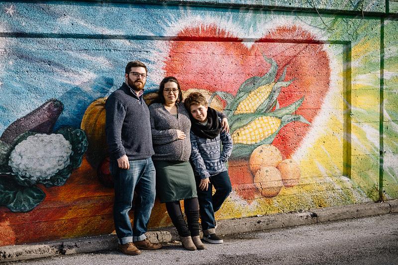 A family mural